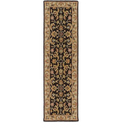 Plemmons Black Area Rug Rug Size: Runner 23 x 10