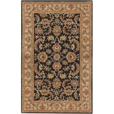 Plemmons Black Area Rug Rug Size: Rectangle 5 x 8