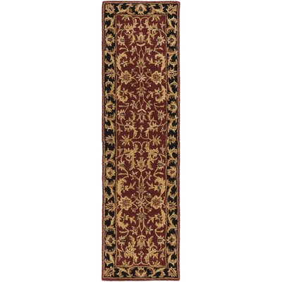 Plemmons Red Area Rug Rug Size: Runner 23 x 10