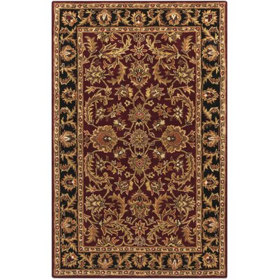 Plemmons Red Area Rug Rug Size: Rectangle 4 x 6