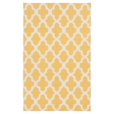 Bangor Yellow Geometric Area Rug Rug Size: Rectangle 4 x 6