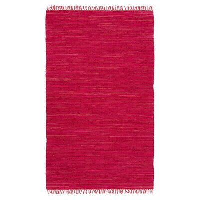 Easy Home Red Solid Delaney Area Rug Rug Size: 36 x 56