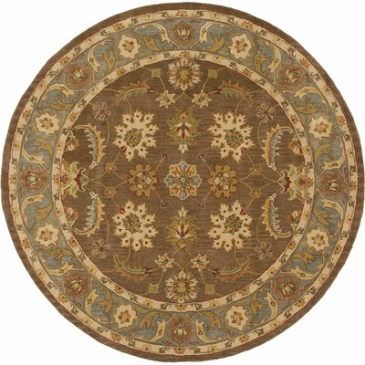 Plemmons Brown Area Rug Rug Size: Round 6