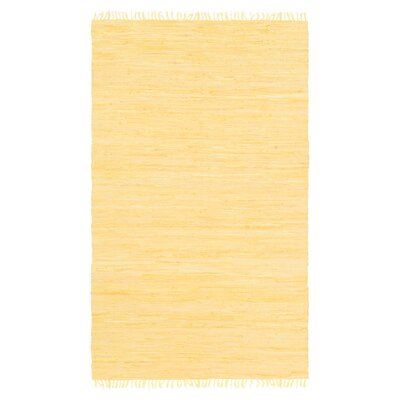 Devaughn Hand-Woven Gold Area Rug Rug Size: 36 x 56