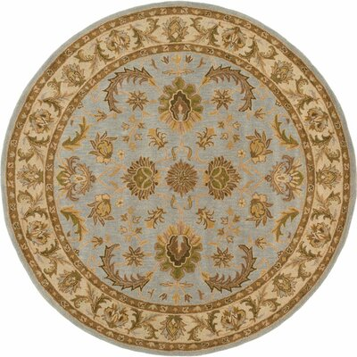 Plemmons Light Blue Area Rug Rug Size: Round 6