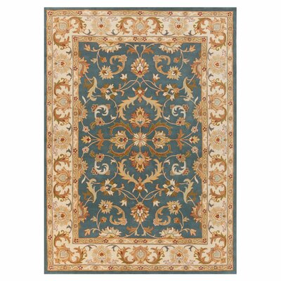 Mckelvey Handmade Blue Area Rug Rug Size: Rectangle 76 x 96