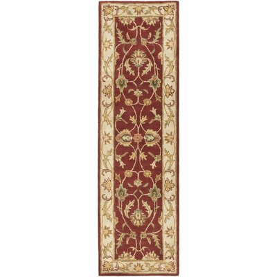 Oxford Red Isabelle Area Rug Rug Size: Runner 23 x 10