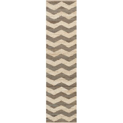 Ayers Brown/Ivory Area Rug Rug Size: Runner 23 x 8