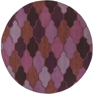 Pollack Morgan Purple Area Rug Rug Size: Round 6