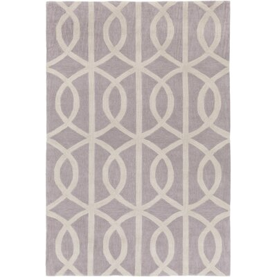 Gingrich Light Gray & Ivory Area Rug Rug Size: Rectangle 5 x 76