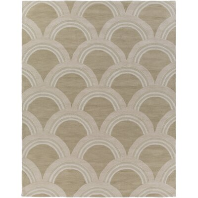 Gingras Beige/Ivory Area Rug Rug Size: Rectangle 7'6