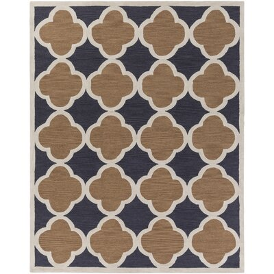 Holden Maisie Charcoal/Rust Area Rug Rug Size: 76 x 96