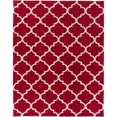 Cleaves Red/Ivory Area Rug Rug Size: Rectangle 76 x 96