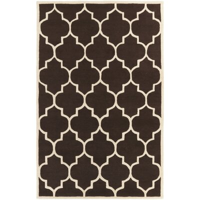 Ayler Brown Geometric Area Rug Rug Size: Rectangle 76 x 96