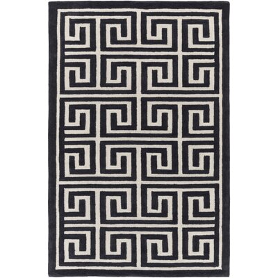 Ortis Charcoal/Ivory Area Rug Rug Size: Rectangle 76 x 96