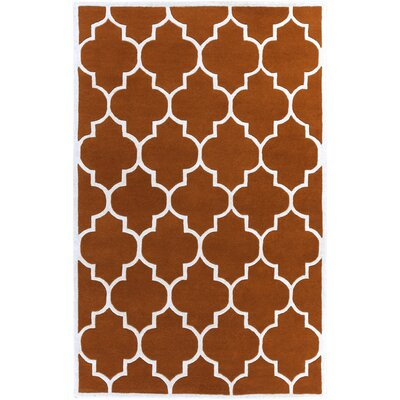 Ayler Orange Geometric Area Rug Rug Size: Rectangle 2 x 3