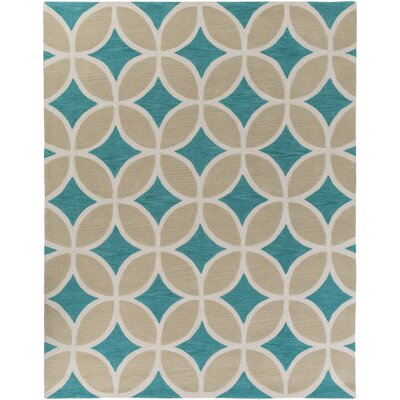 Kroeker Teal/Beige Area Rug Rug Size: Rectangle 76 x 96