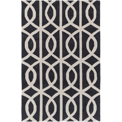 Gingrich Charcoal & Ivory Area Rug Rug Size: Rectangle 5 x 76