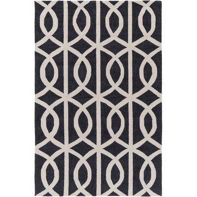 Holden Zoe Charcoal & Ivory Area Rug Rug Size: 5 x 76