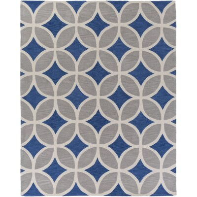 Holden Mackenzie Royal Blue/Gray Area Rug Rug Size: 7'6