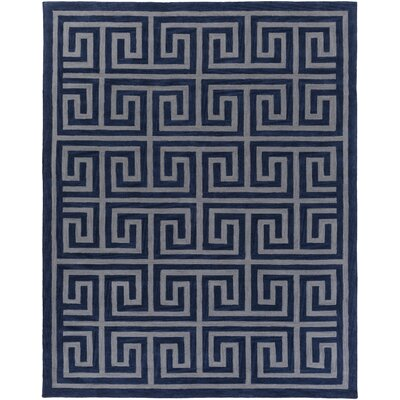 Ortis Navy/Gray Area Rug Rug Size: Rectangle 76 x 96