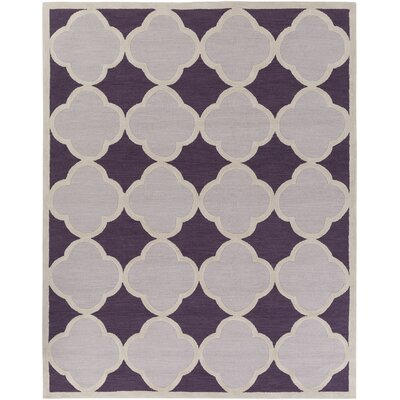 Corson Purple/Gray Area Rug Rug Size: Rectangle 76 x 96