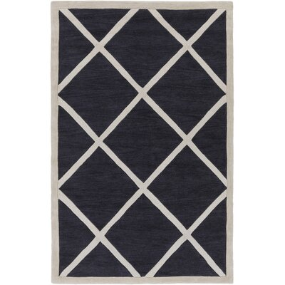 Cleitus Slate & Ivory Area Rug Rug Size: Rectangle 5 x 76