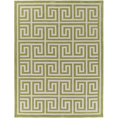 Ortis Moss & Ivory Area Rug Rug Size: Rectangle 76 x 96
