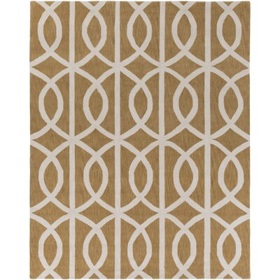 Gingrich Tan & Ivory Area Rug Rug Size: Rectangle 76 x 96