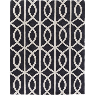Gingrich Charcoal & Ivory Area Rug Rug Size: Rectangle 76 x 96
