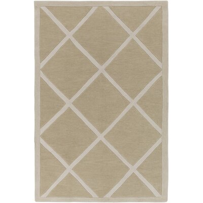 Cleitus Beige/Ivory Area Rug Rug Size: Rectangle 5 x 76