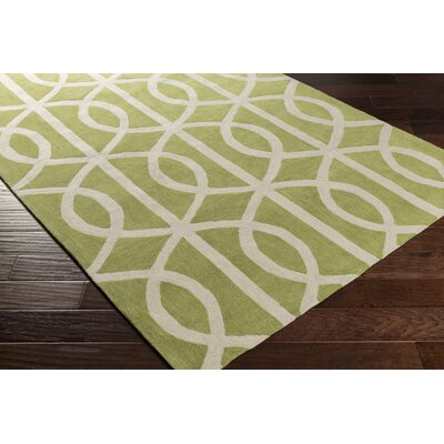 Gingrich Moss/Ivory Area Rug Rug Size: Rectangle 5 x 76