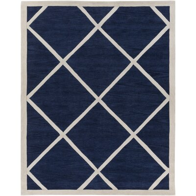 Cleitus Navy/Ivory Area Rug Rug Size: Rectangle 76 x 96