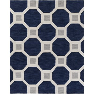 Wyche Navy Area Rug Rug Size: Rectangle 76 x 96