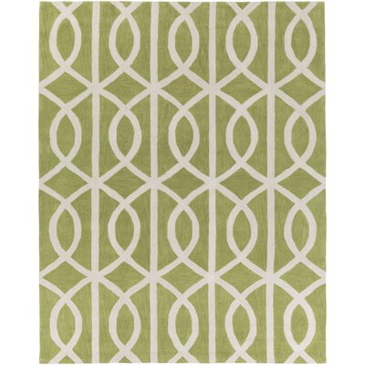 Gingrich Moss/Ivory Area Rug Rug Size: Rectangle 76 x 96