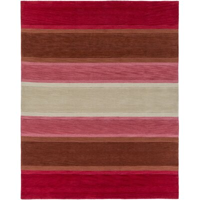 Ginn Cherry Area Rug Rug Size: Rectangle 76 x 96