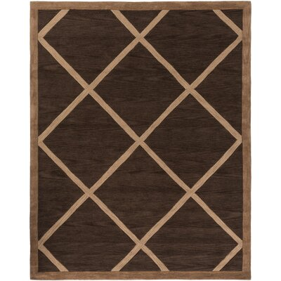 Cleitus Brown/Tan Area Rug Rug Size: Rectangle 76 x 96