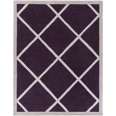Cleitus Purple/Ivory Area Rug Rug Size: Rectangle 76 x 96