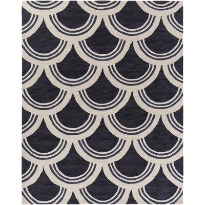 Gingras Charcoal/Ivory Area Rug Rug Size: Rectangle 76 x 96
