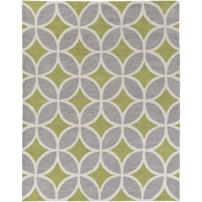 Kroeker Moss/Light Blue Area Rug Rug Size: Rectangle 76 x 96