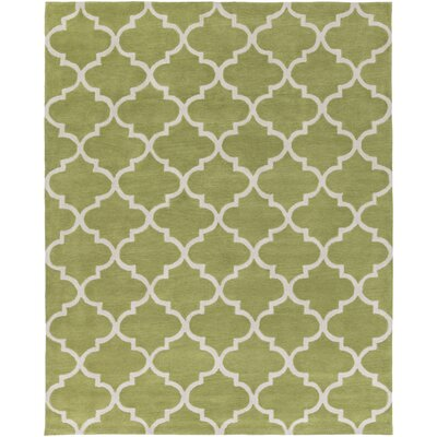 Cleaves Moss/Ivory Area Rug Rug Size: Rectangle 76 x 96