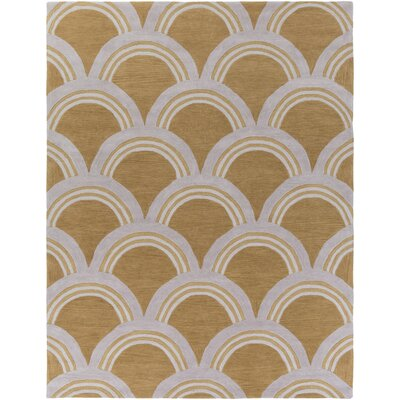 Gingras Sand/Ivory Area Rug Rug Size: Rectangle 5 x 76