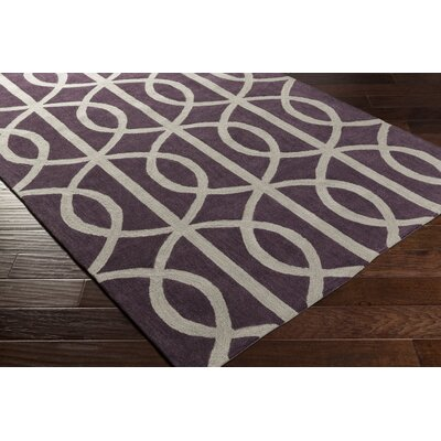 Gingrich Purple/Ivory Area Rug Rug Size: Rectangle 76 x 96
