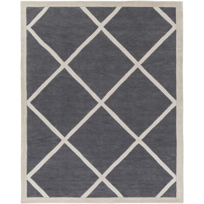 Cleitus Charcoal/Ivory Area Rug Rug Size: Rectangle 76 x 96