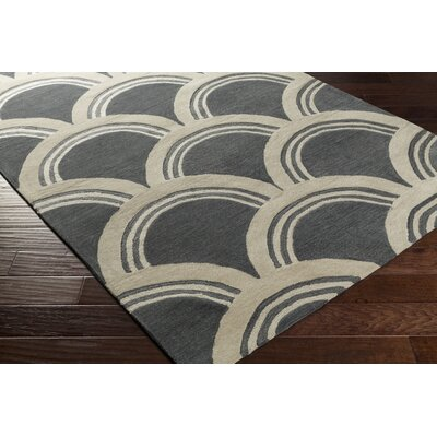 Gingras Gray/Ivory Area Rug Rug Size: Rectangle 5 x 76