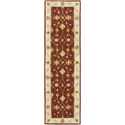 Plemmons Red Area Rug Rug Size: Runner 23 x 14