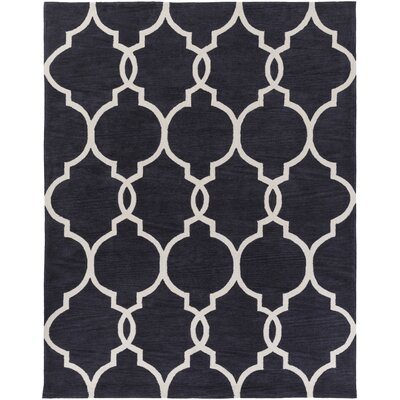 Hellwig Charcoal/Ivory Area Rug Rug Size: Rectangle 76 x 96