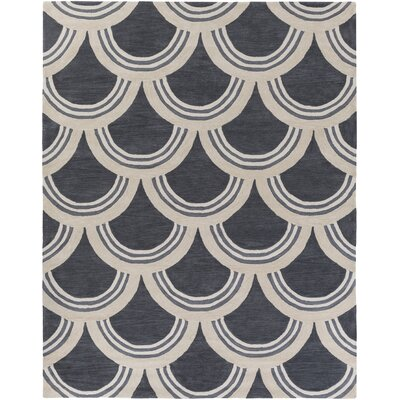 Gingras Purple/Ivory Area Rug Rug Size: Rectangle 76 x 96