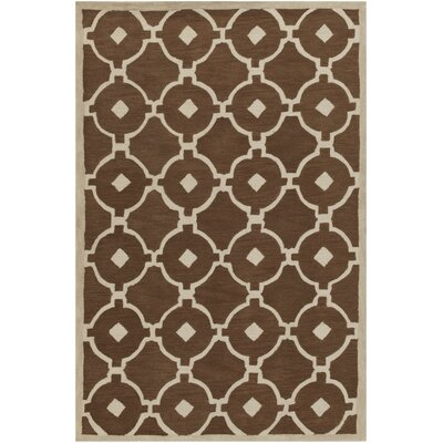 Kroeger Brown/Ivory Area Rug Rug Size: Rectangle 5 x 76
