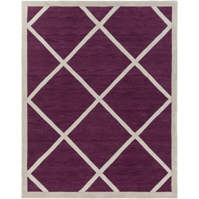Cleitus Fuchsia/Ivory Area Rug Rug Size: Rectangle 76 x 96
